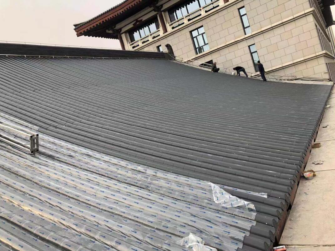 步驟五:鋪好的屋面